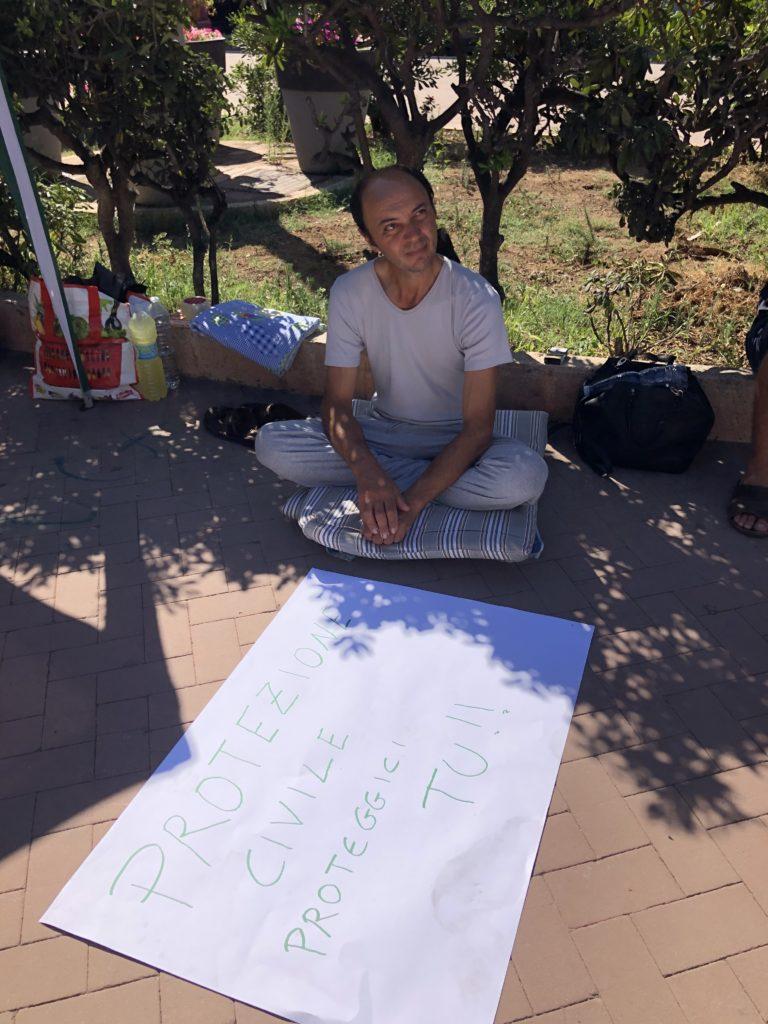 battista belvisi protesta lago