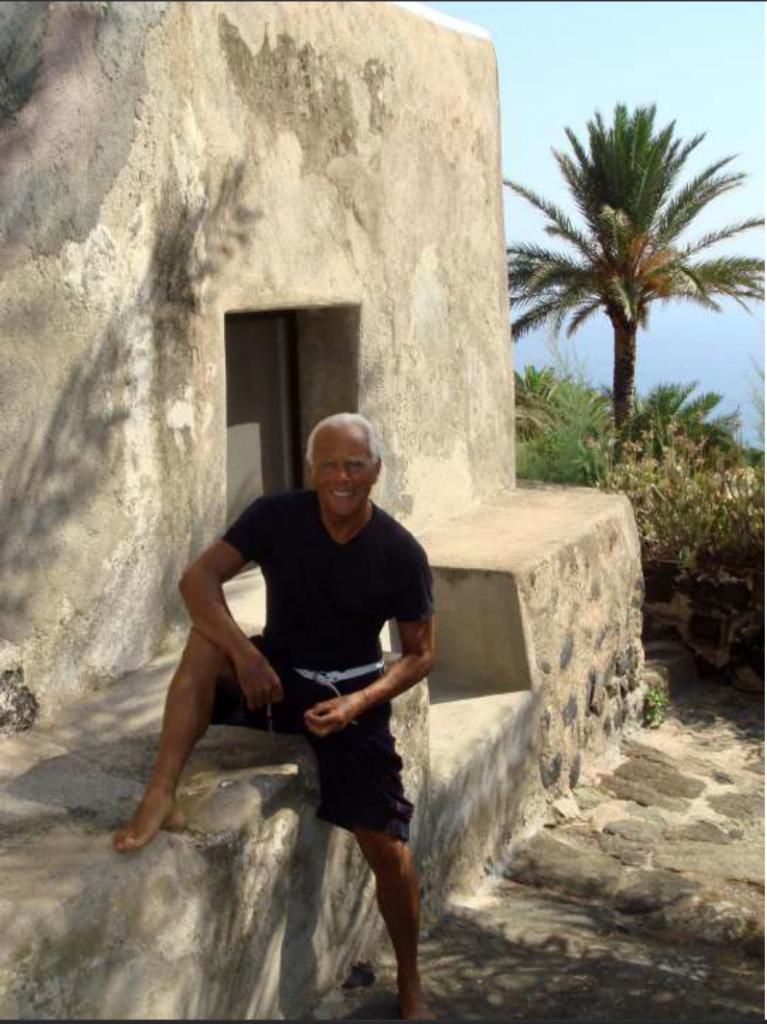 Giorgio Armani a Pantelleria