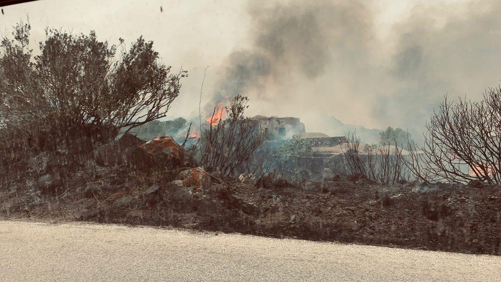 Incendio all'aeroporto - Foto di Flavio Silvia