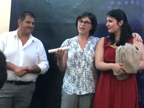 Ludovica Franco con Carmine Acierno e l'Assessore Claudia Della Gatta