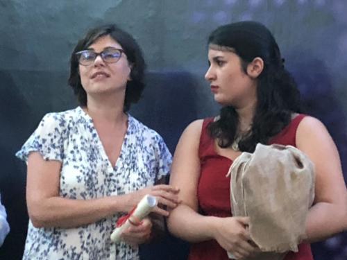 Ludovica Franco con l'Assessore Claudia Della Gatta