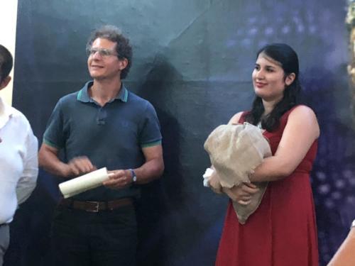 Ludovica Franco con il Maestro Pietro Rizzo