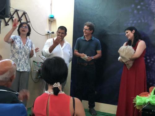 Claudia Della Gatta, Carmine Acierno, il Maestro Pietro Rizzo e Ludovica Franco