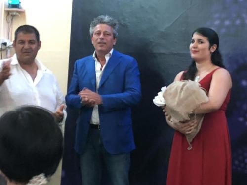 Carmine Acierno, il Vie Sindaco Maurizio Caldo e Ludovica Franco