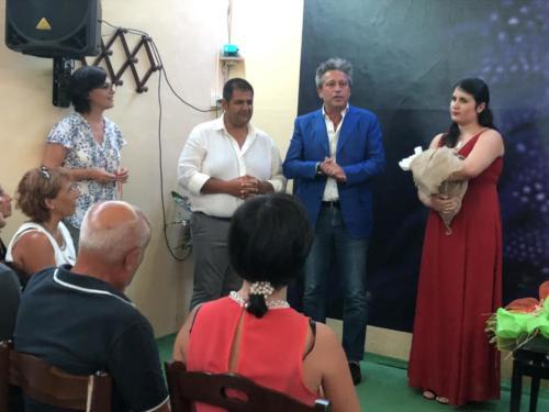 Claudia Della Gatta, Carmine Acierno, il Vie Sindaco Maurizio Caldo e Ludovica Franco