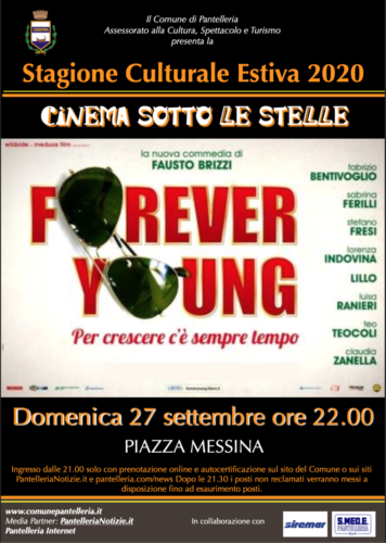 Locandina CINEMA Forever Young 2020